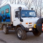"""El Troll"" – Expeditionsmobil (Unimog 1300L Typ 435)"
